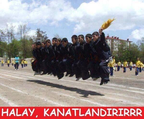 Halay, kanatlandırırrr. :) #mizah #matrak #komik #espri #caps
