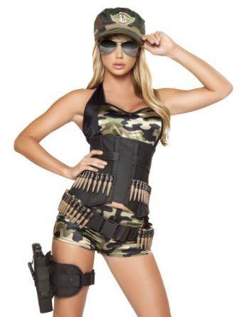 Army babe military camo halloween costume - 5pcs