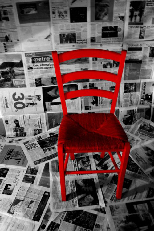 What's Black & White and READ (red) all over?