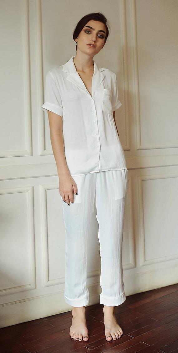 b5438d5f8d09 LelaSilk Silk Pyjamas  Pajamas Set  Women Pajamas  Burgundy pajamas ...