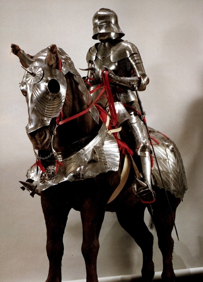 15th century English armor for man and horse