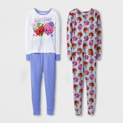 Shopkins Girls' Pajama Set - White