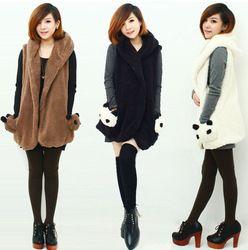 Online Shop 2014 Autumn Winter women Plush Vest coats Winter Jacket lovely panda pattern Women Waistcoat Plus Size Free Shipping Aliexpress Mobile