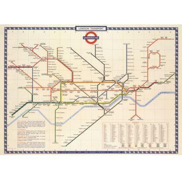 Giftwrap London Underground - Bobangles #Cavallini #vintage #map #London #poster #gift #stationery