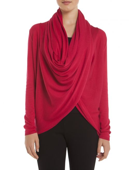 Multi-wrap cardi - Red Sweaters and cardigans @Boutique JACOB #JACOBGIFTS