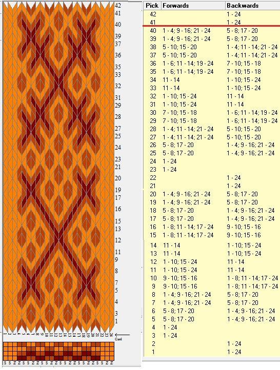 24 tarjetas, 3 colores, repite cada 40 movimientos // sed_1021 diseñado en GTT༺❁