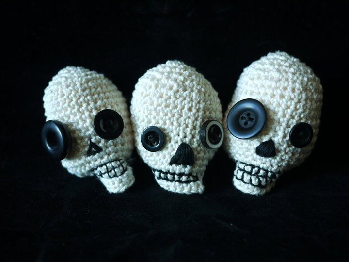 Free Amigurumi Skull Pattern : 1000+ images about Oh what to make today? on Pinterest ...
