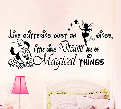New Arrival Minnie Mouse Creative Art Removable High Quality Wall Stickers Murals Decals For Living room Children bedroom Wallpaper For Home D¨¦cor (113cm by 56cm, Black) * To view further for this item, visit the image link.