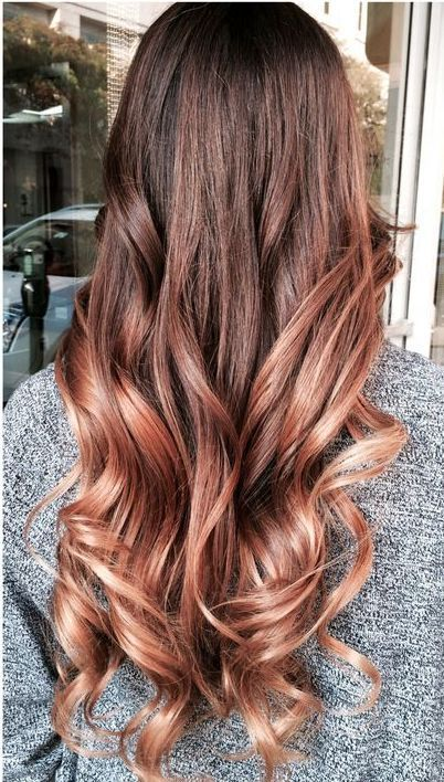 ombre styles for dark hair instagram gold hair color ideas for 2017 new hair 2555 | 9f7ee4a253b37991fb66d3c36246526c rose gold ombre rose gold balayage