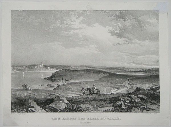 View north over the Braye du Valle, 1830.