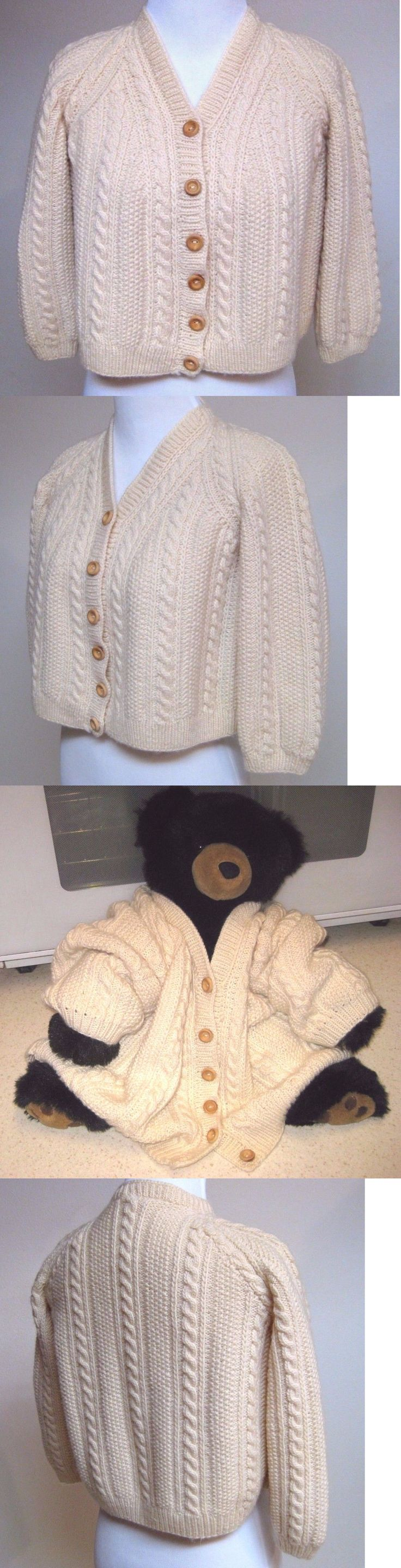 Sweaters 175657: New Unisex Childs Hand Knit Cables Aran Sweater Raglan Ivory Shower Baby Gift -> BUY IT NOW ONLY: $64.99 on eBay!