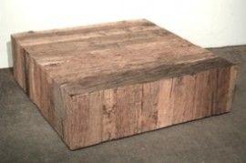 Salontafel Vierkant oud hout