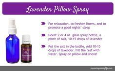 Young Living Essential Oils: Lavender Pillow Spray for Relaxation