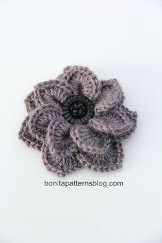 Cocodrilo de la puntada de doble capa de la flor 10