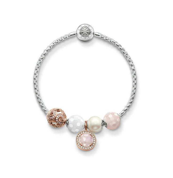 Thomas Sabo Karma beads: gold/pearl/pink