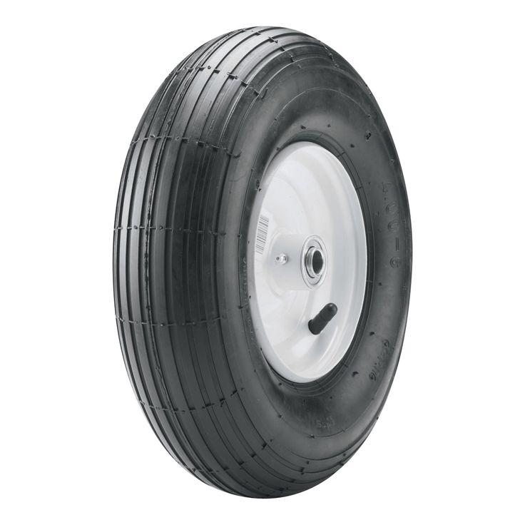 Carlisle Wheelbarrow Tire - 400-6 LRA/2 ply (Black) #5134371