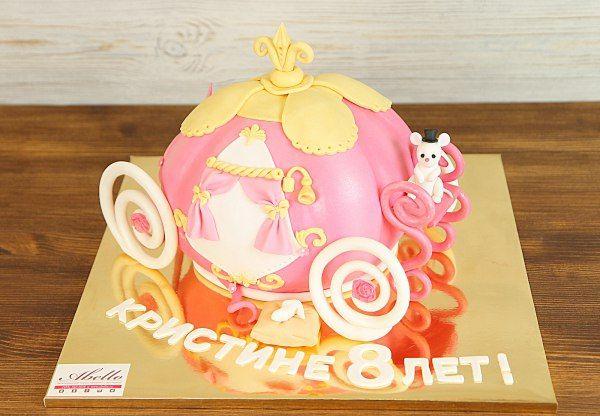 """Детский торт """"Карета Золушки""""  Каждая девочка мечтает хоть раз прокатиться, на прекрасной карете Золушки. Воплотите мечту вашей маленькой принцессы в жизнь, устроив самый лучший #бал, на котором будет самая прекрасная розовая #карета!  Мы с удовольствием изготовим прекрасный торт #карета Золушки от 3-х кг и всего 2250₽/кг. Изготовление #фигуркинаторт мышки включено в стоимость торта.  Специалисты #Абелло готовы помочь с выбором красивого и качественного десерта по любому поводу по единому…"""