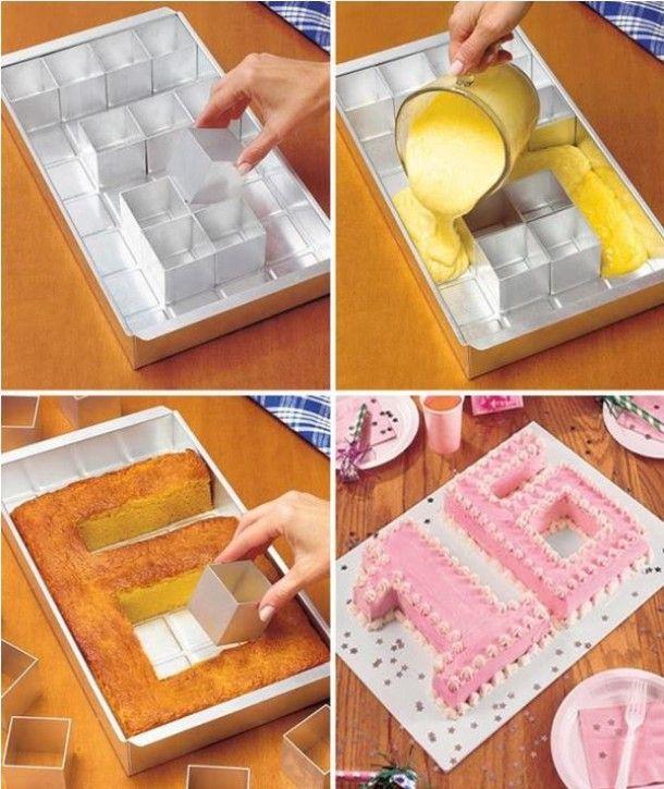 Makkelijk cake maken in de vorm van letters en getallen Door mignonne