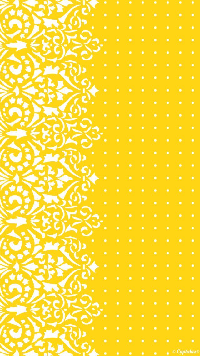 Yellow to polka dot? Wallpaper   Cuptakes wallpapers for girly ...