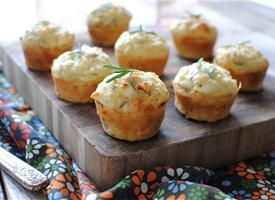 I really want someone to make these for me- Savory+Mini+Muffins+with+Goat+Cheese,+Red+Onion+and+Rosemary+Recipe