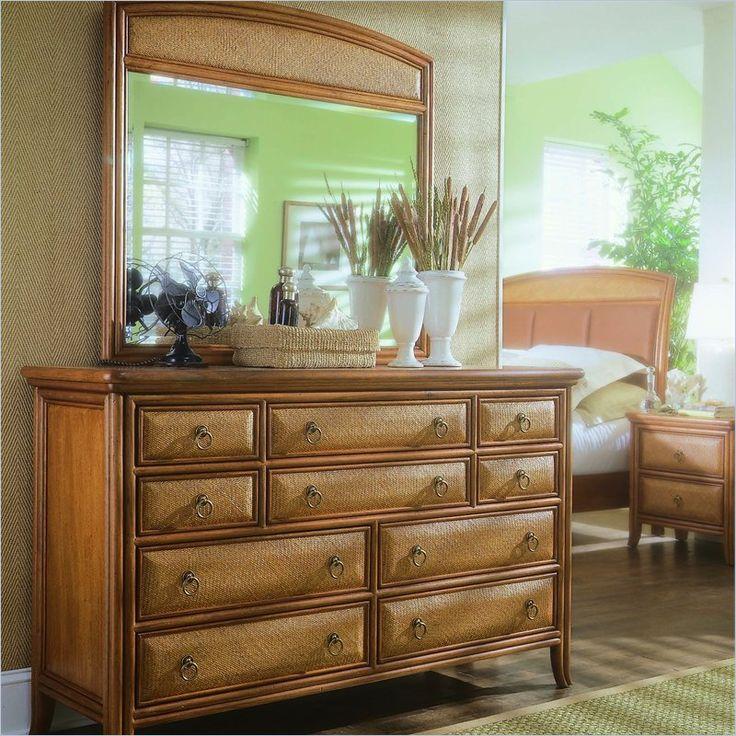 American Drew Antigua Double Dresser And Mirror Set In Toasted Almond    931 021  · Bedroom FurnitureOldDressersAlmondsDresser ...