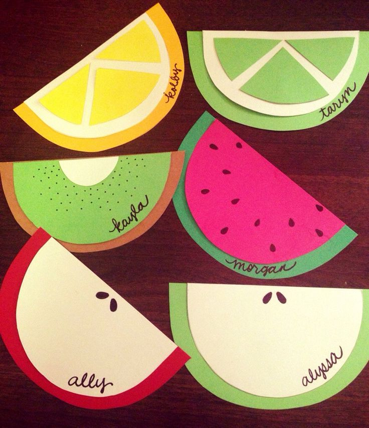 Fruit: a fun and colorful collection of fruit, all made from one simple template that you'll be able to download for free. For more ideas, go to theraguide.wordpress.com