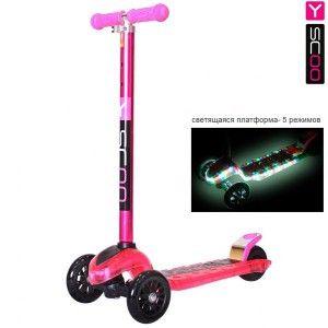 Самокат Y-Scoo Maxi Laser Show pink - Самокаты - Детский транспорт