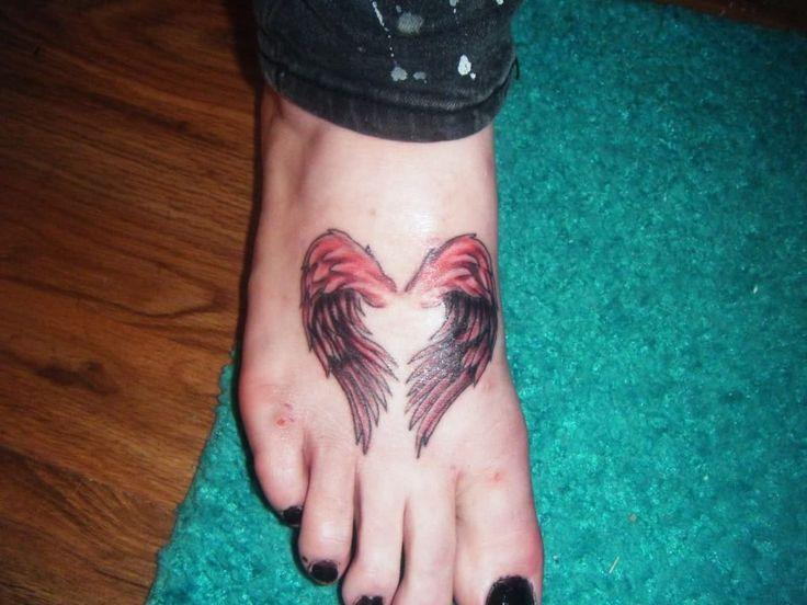 Heart Angel Wings Tattoos for Girls