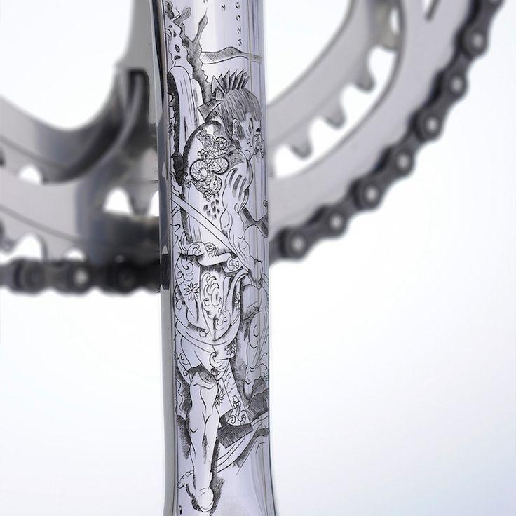 Vintage Fahrrad Design mit kunstvollen, handgemachten Details