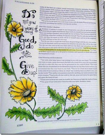 Bible Journal, Bible Journaling, Hand lettering Ellen Parker