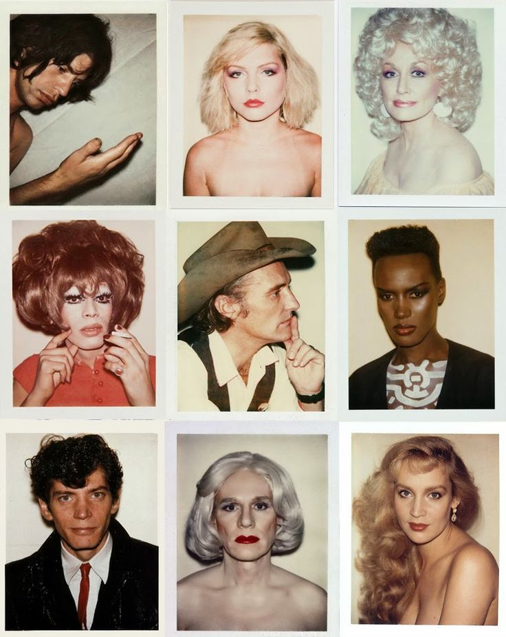 Andy Warhol Polaroids via stoned immaculate vintage WO AND WÉ