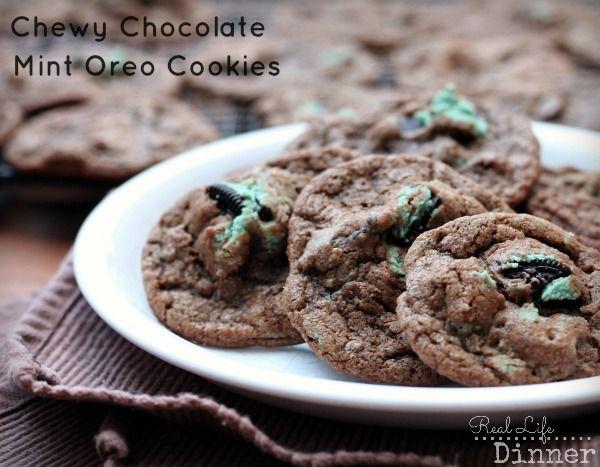 Chewy Chocolate Mint Oreo Cookies   Recipe