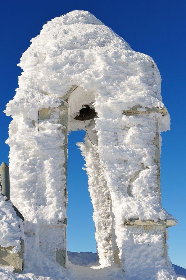 Frozen Church Bell Tower, Greece