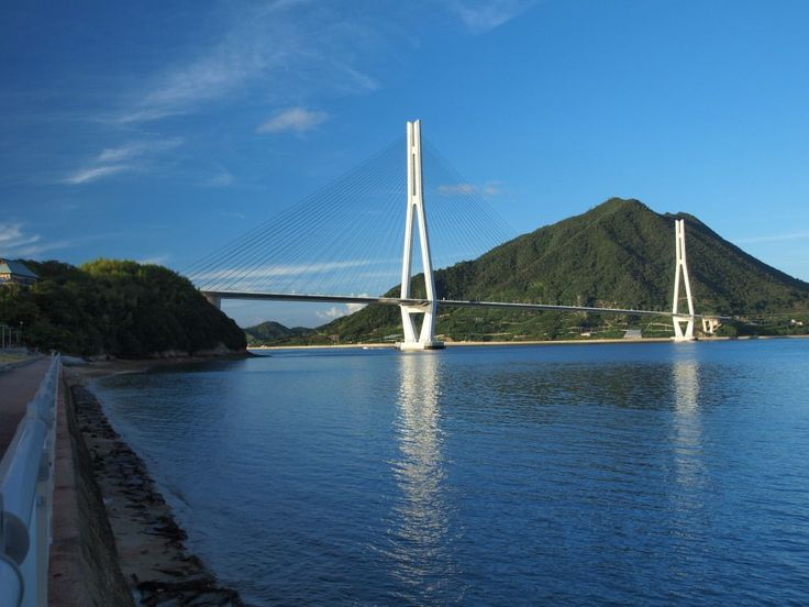 The Tatara Bridge (多々羅大橋 Tatara Ōhashi?) is a cable-stayed bridge that is part of the Nishiseto Expressway, commonly known as the Shimanami Kaidō しまなみ海道. The bridge has a center span of 890 metres (2,920 ft). As of 2010 it has the fourth longest main span of any cable-stayed bridge after the Sutong Bridge.