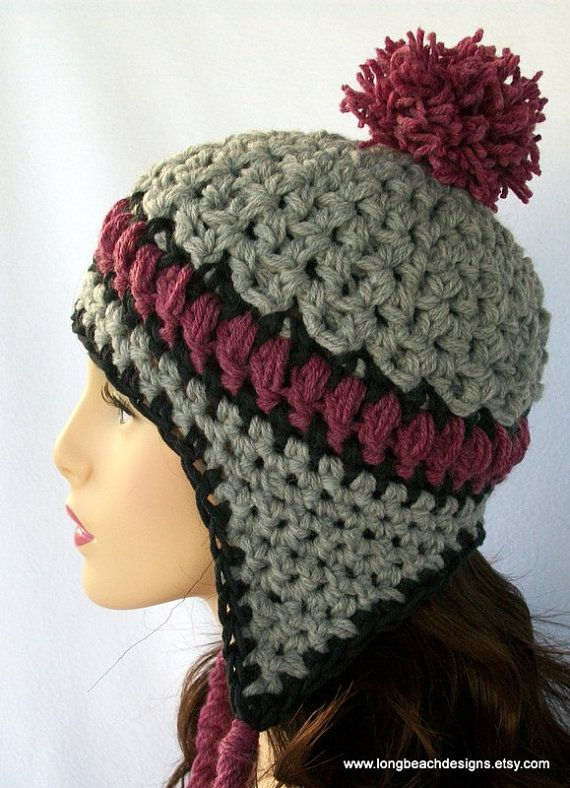 Crochet Womens Hat With Ear Flaps Pattern : 1000+ ideas about Flap Hat on Pinterest Crocheted baby ...