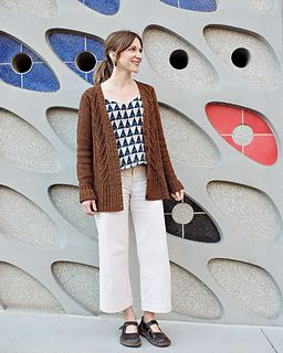 b0ea549f19a6bc Minimalist Cable Cardigan pattern by Carina Spencer