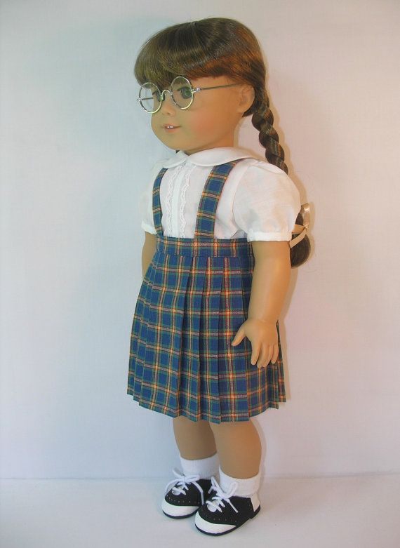 1944-1069 Plaid Pleated Skirt with Suspenders for by terristouch