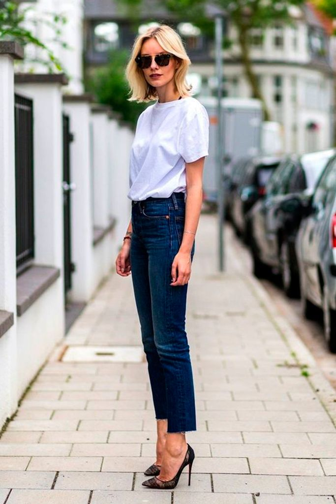 #basic #streetstyle #outfit #looks #basicos #inspiracion #inspiration #t-sirt #shoes #denim