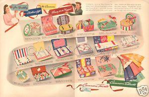 VTG 1940's Cannon Towel GIFT BOX Retro Kitchen Bathroom PINK Bath Linen Sheet Ad  | eBay