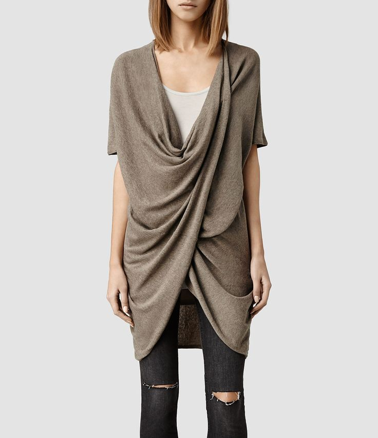 Women's Itat Reversible Knit Tee (Taupe Marl) - product_image_alt_text_1