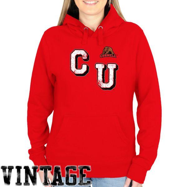 Cornell Big Red Women's Acronym Pullover Hoodie - Carnelian - $44.99