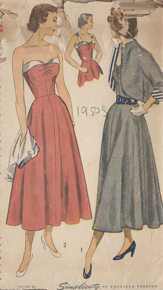 ITEM DESCRIPTION:     ~ Circa/Date: 1949  ~ Details: Two style variation DRESS & BOLERO JACKET (This pattern is also available in a Size:18 Bust:36 - see listing number 251146176347) ~ Size/Measurements (Inches): Size: 12  BUST: 30  Waist: 25  Hip: 33 ~ Condition Brand New Reproduced Copy. All pieces present and correct, with full instructions. ~ Any questions please do not hesitate but contact. Thank you for looking.   ~ Please Note: You are buying a Professional Digitally…