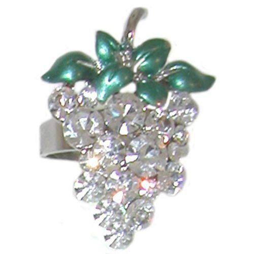 Swarovski Crystal Grapes Ring In Crystal with Silver Finish . $6.99
