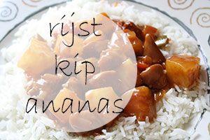recept rijst met kip en en ananas