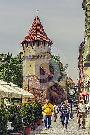 The Carpenters' Tower In Sibiu City, Romania - Download From Over 32 Million High Quality Stock Photos, Images, Vectors. Sign up for FREE today. Image: 54031160