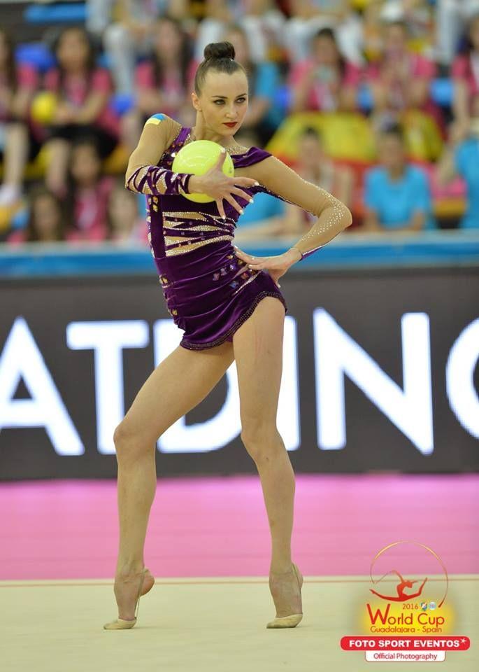 Ganna Rizatdinova (Ukraine) won silver in ball finals at World Cup (Guadalajara…