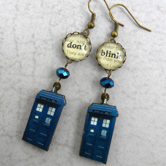 Doctor Who Tardis orecchini non lampeggiano orecchini di Msemrick