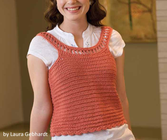 You could have this top ready in no time! A cute summer wardrobe edition, free pattern too.