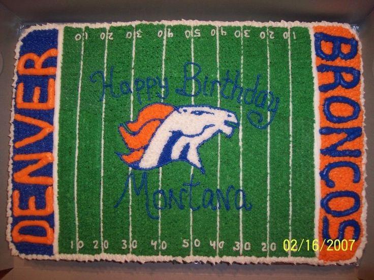 bronco cake | Denver Broncos Birthday Cake — Football / NFL