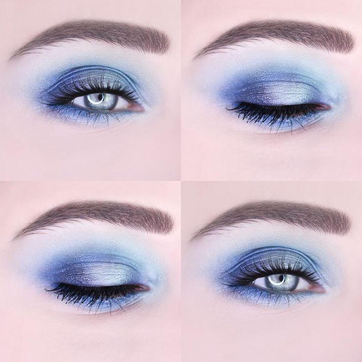 """BLUE LAGOON  Eyeshadow- Makeup Revolution """"Mermaids vs Unicorns"""" Waterline- CATEICE Longlasting Eye Pencil """"Rendez-blue"""" 110"""